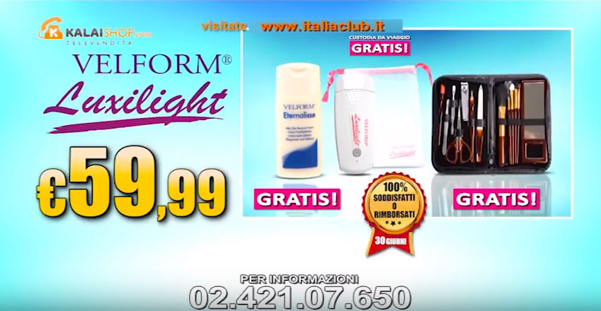 Active Shopping Luxilight offerta Luxilight Velform